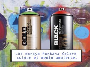Los sprays Montana Colors cuidan el medio ambiente.